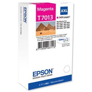 kazeta EPSON T7013 XXL Magenta WP4000/4500 series (3400 str.)