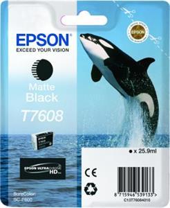 kazeta Epson T7608 Matná čierna
