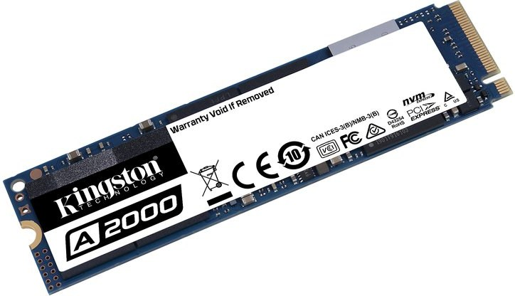 Kingston A2000 500GB SSD PCIe Gen3 x4 NVMe M.2 2280