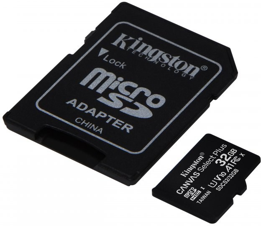 Kingston Canvas Select Plus micro SDHC 32GB Class 10 UHS-I + adaptér