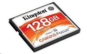 Kingston CF karta 128GB Canvas Focus UDMA7 VPG-65 (č/z: 150/130MB/s)