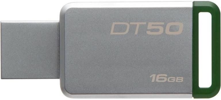 Kingston DataTraveler 50 16GB, sivý