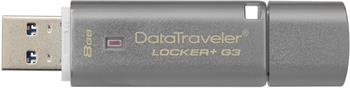 Kingston DataTraveler Locker+ G3 8GB, sivý