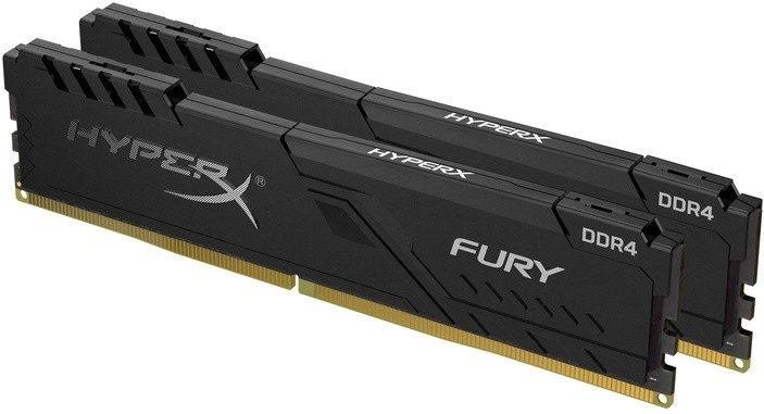 Kingston HyperX Fury, DDR4, DIMM, 3600 MHz, 16 GB (2x 8 GB kit), CL17, čierna