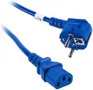 Kolink sieťový napájací kábel k PC 230V, 1.8m, modrý