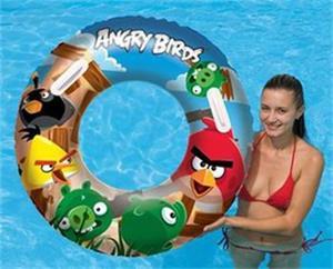 Kruh Bestway Angry Birds , nafukovací, velký, průměr 91 cm