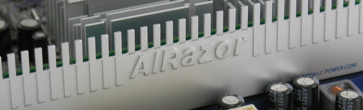 LC POWER AiRazor Series,, RAM cooler for single/double-sided DDR1-4 modules, 2 pcs