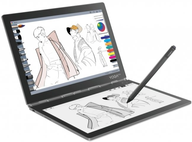 Lenovo Yoga Book C930, 256GB, LTE, sivý