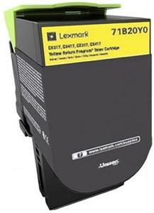 Lexmark 71B20Y0, žltá, 2300strán