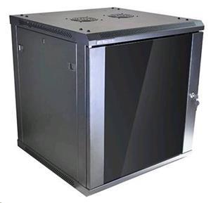 Linkbasic závesná skrine 19'' 12U 600x600mm - čierna