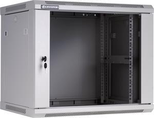 Linkbasic závesná skrine 19'' 9U 600x600mm - šedá (presklené dvere)