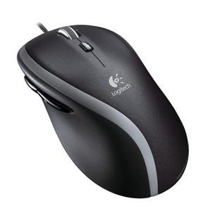 Logitech Corded M500, laserová myš, čierna