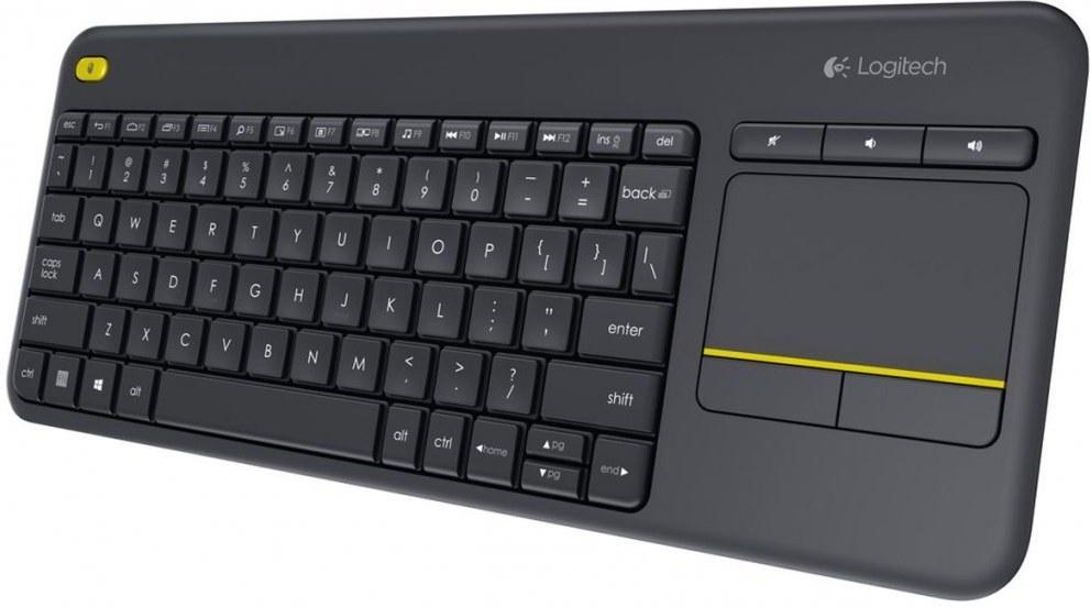 Logitech K400 Plus, bezdrôtová klávesnica s touchpadom, SK+CZ, čierna