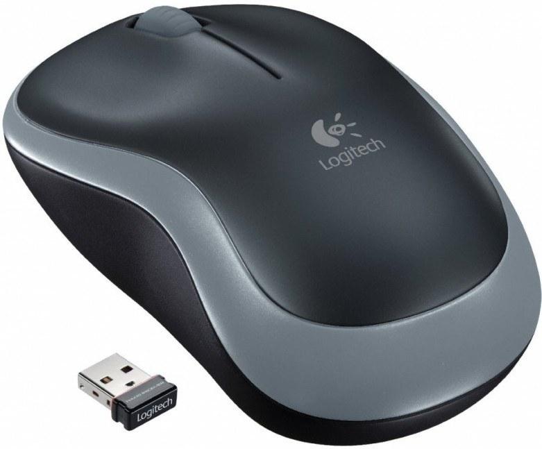 Logitech M185, bezdrôtová myš, čierno-sivá