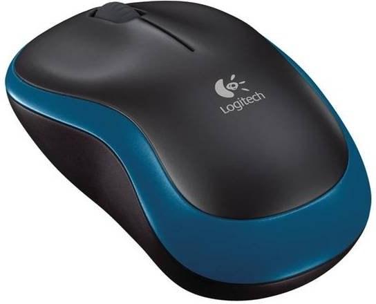 Logitech Wireless Mouse M185, myš, čierno-modrá
