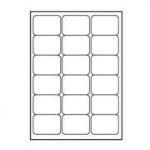 Logo 68x47, A4, matné, biele, 18 etikiet, 140g/m2, balené po 25 ks, pre INK a LASER