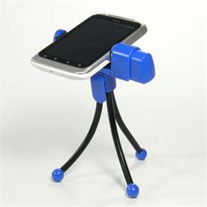 Logo držiak na mobil na stôl, modrý, termoplast, pre akýkoľvek mobilný telefón, modrá, mobil