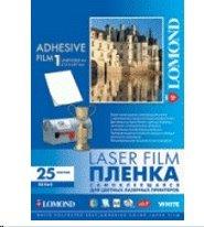 LOMOND Samolepiace fólia pre laserovú tlač, biela, A4/25 hárkov, 100mic