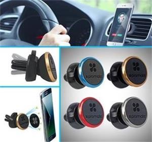 magnetický držiak na smartfóny PROMATE VENTGRIP, mini držiak do výduchov ventilácie, zlatá farba