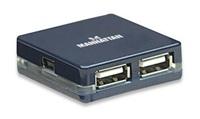 Manhattan Hub, USB 2.0 4portovy pocket size