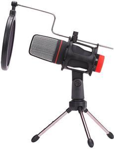 Marvo, streamovací mikrofón MIC-02, bez regulácie hlasitosti, čierny, s tripodom