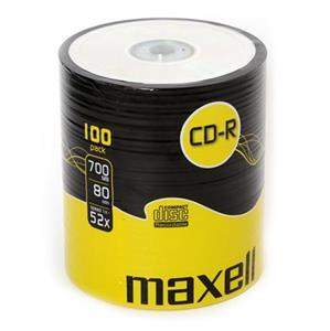 Maxell CD-R 700MB 52x, 100ks v cake obale, Softpack