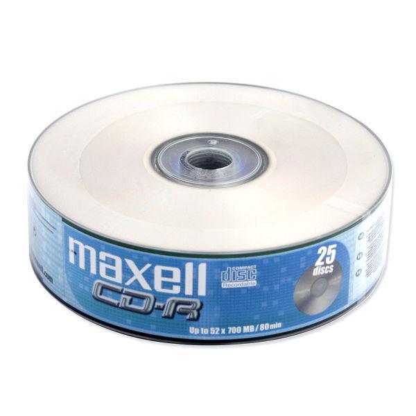 Maxell CD-R 700MB 52x, 25ks v cake obale, Softpack
