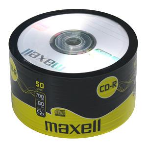 Maxell CD-R Printable 700MB 52X 50ks/spindel