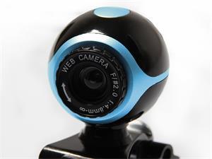 Media-Tech LOOK II webová kamera 640x480 s mikrofónom + ovládače, čierno-modrá