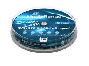 MediaRange DVD+R DL 8,5GB 8x Cake 10