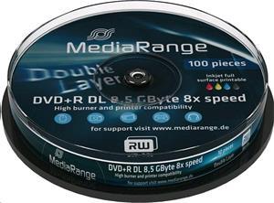 MediaRange DVD+R DL 8x PRINTABLE Cake 10