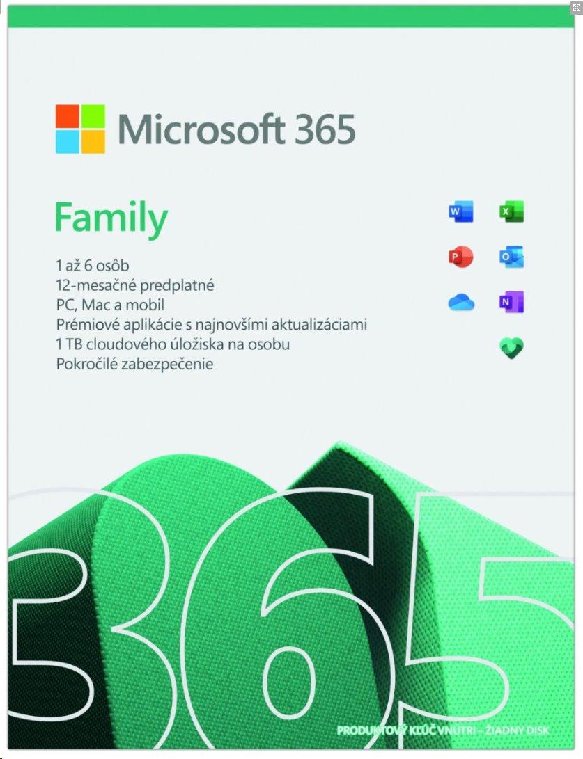 Microsoft 365 pre rodiny (6 používateľov) promo
