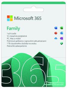 Microsoft 365 pre rodiny, el. licencia