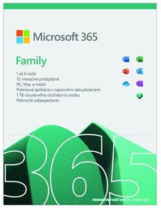 Microsoft 365 pre rodiny (pre 6 používateľov)