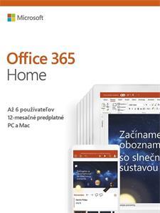 Microsoft Office 365 pre domácnosti (pre 6 zariadení)