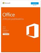 Microsoft Office pre podnikateľov 2016 Slovak Medialess / Office Home and Business