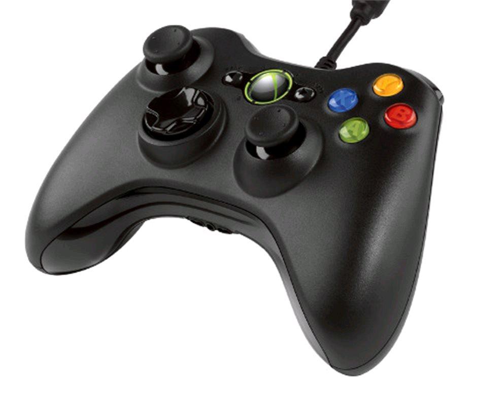 Microsoft Xbox Gamepad, drôtový, pre PC a XBOX 360, čierny
