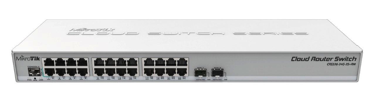 MikroTik CRS326-24G-2S+RM,24port L3 rackm switch