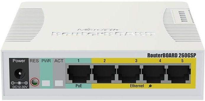 Mikrotik RB260GSP, 5xGE, 1xSFP