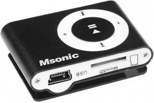 MSONIC MP3 prehrávač s čítačkou kariet, čierny