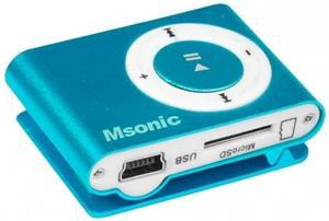 MSONIC MP3 prehrávač s čítačkou kariet, modrý