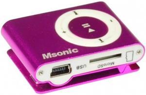 MSONIC MP3 prehrávač s čítačkou kariet, ružový