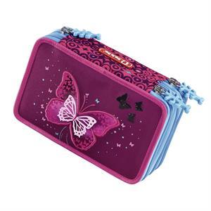 Naplnený blikací peračník Step by Step Trblietavý motýľ