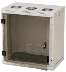 Nástěnný rack RUA 12U/600mm odn.boč+skl.dv.