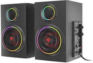 Natec Genesis HELIUM 300BT ARGB, Reproduktory 2.0 24W  Bluetooth 5.0
