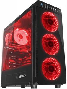 Natec Genesis Irid 300 RED, čierna