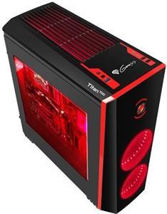 Natec Genesis Titan 700, čierno-červená