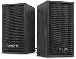 Natec Panther reproduktory 2.0 6W, drevo