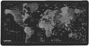 Natec Time Zone Map, maxi podložka pod myš , 40x80cm