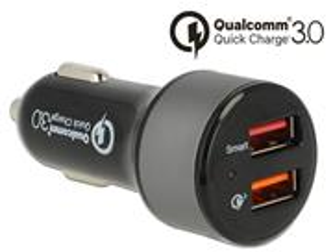 Navilock Autonabíječka 2 x USB Type-A s Qualcomm® Quick Charge™ 3.0